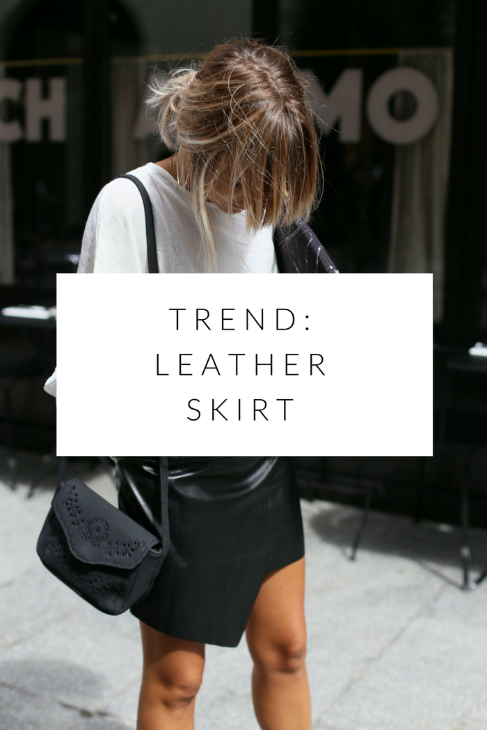 fall fashion favourites: the leather skirt