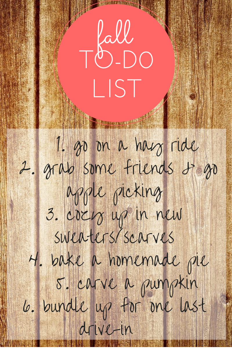 Fall To do list Mimosas amp Pumps
