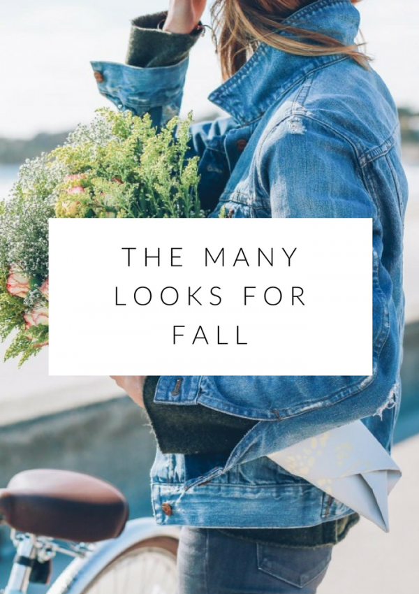 oh the many looks for fall ..