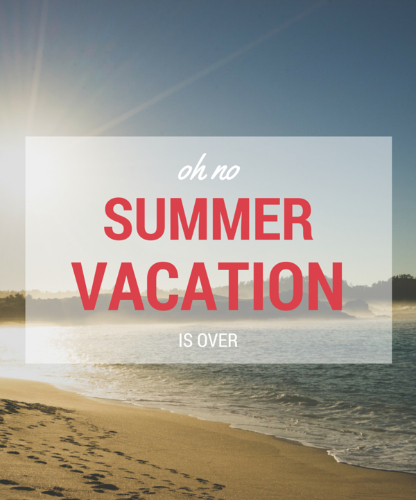 a little summer vacation …