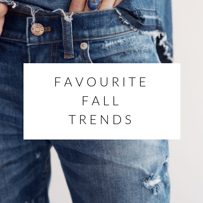 my 5 favourite fall trends
